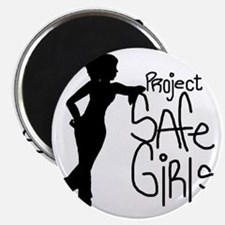PROJECT SAFE GIRLS LOGO LG WITH TM900 Magnet
