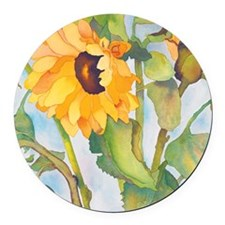 sunflowers ipad Round Car Magnet