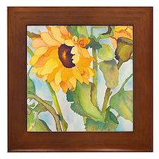 sunflowers ipad Framed Tile