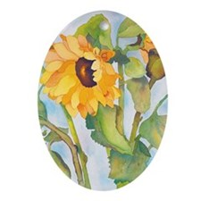 sunflowers ipad Oval Ornament