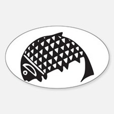 Aztec Fish Oval Decal