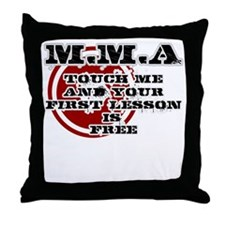 MMA teeshirt: touch me, first lesson  Throw Pillow