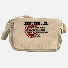 MMA teeshirt: touch me, first lesson Messenger Bag