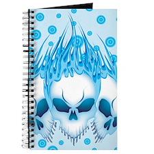 Blue Flaming Skulls IPAD Journal