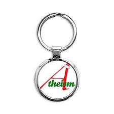 Atheism4 Round Keychain