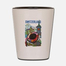 Vintage Switzerland Travel Shot Glass