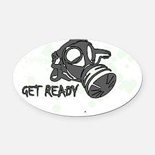 getready1 Oval Car Magnet