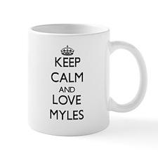 Keep Calm and Love Myles Mugs