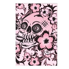 Pink Tattoo Skull IPAD Postcards (Package of 8)