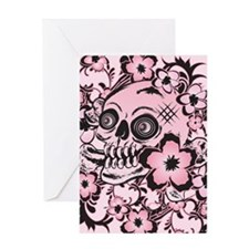 Pink Tattoo Skull IPAD Greeting Card