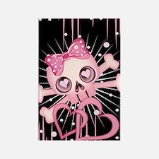 Pink Neon Skull IPAD Rectangle Magnet