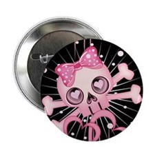 "Pink Neon Skull IPAD 2.25"" Button"