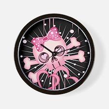 Pink Neon Skull IPAD Wall Clock