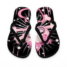 Pink Neon Skull IPAD Flip Flops