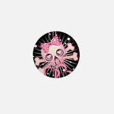 Pink Neon Skull IPAD Mini Button