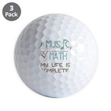 Math and Music Golf Ball