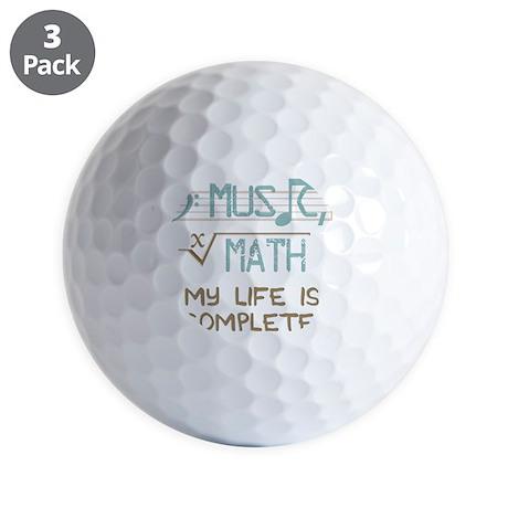 Math and Music Golf Balls