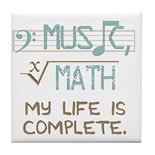 Math and Music Tile Coaster