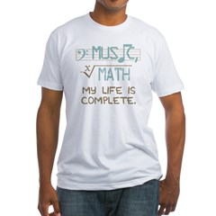 Math and Music Fitted T-Shirt