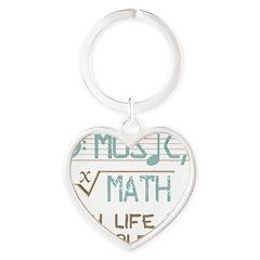 Math and Music Heart Keychain