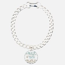 Math and Music Charm Bracelet, One Charm