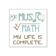 Math and Music Square Sticker 3