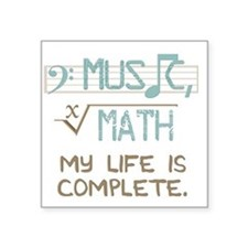 "Math and Music Square Sticker 3"" x 3"""