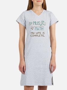 Math and Music Women's Nightshirt