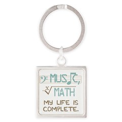 Math and Music Square Keychain