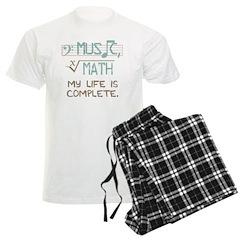 Math and Music Men's Light Pajamas