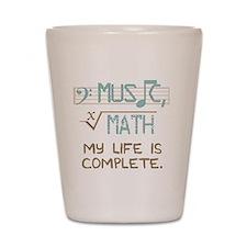 Math and Music Shot Glass