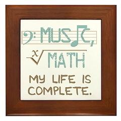 Math and Music Framed Tile