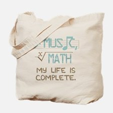 Math and Music Tote Bag