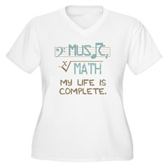 Math and Music Women's Plus Size V-Neck T-Shirt