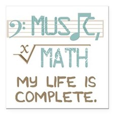 """Math and Music Square Car Magnet 3"""" x 3"""""""