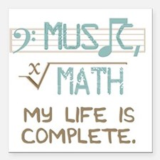 "Math and Music Square Car Magnet 3"" x 3"""