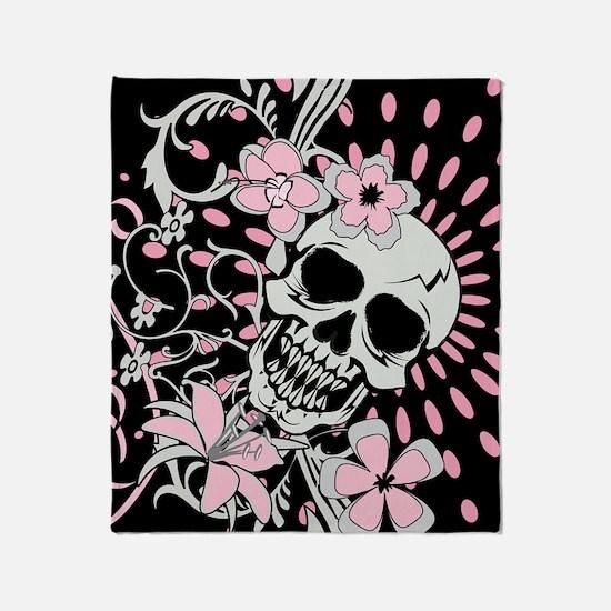 Vintage Skull IPAD Throw Blanket