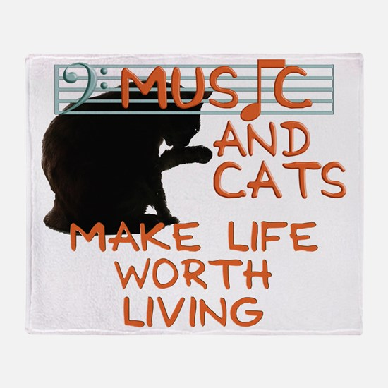 musicandcats Throw Blanket