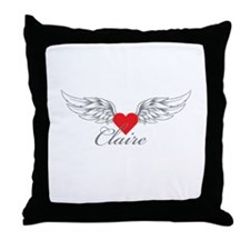 Angel Wings Claire Throw Pillow