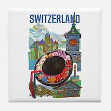 Vintage Switzerland Travel Tile Coaster