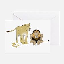 LionGroupdark Greeting Card