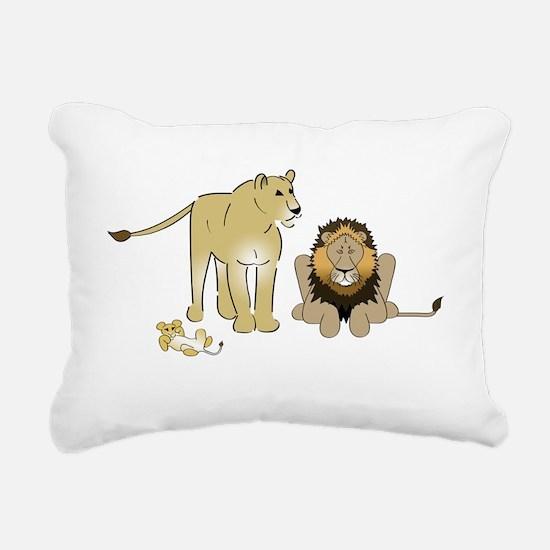 LionGroupdark Rectangular Canvas Pillow