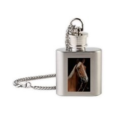 chestnut_rect Flask Necklace
