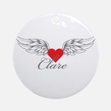 Angel Wings Clare Ornament (Round)