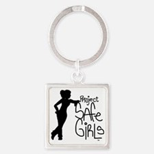 PROJECT SAFE GIRLS SMALLER Square Keychain
