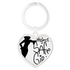 PROJECT SAFE GIRLS SMALLER Heart Keychain