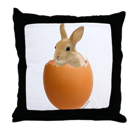 Bunny Egg Throw Pillow