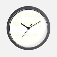 madeinchina3 Wall Clock