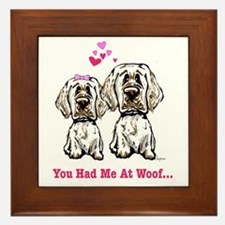 You Had Me at Woof Framed Tile
