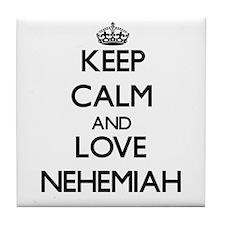 Keep Calm and Love Nehemiah Tile Coaster